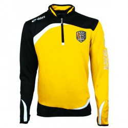 Sweat MONDIAL Noir/Jaune + Logo Club